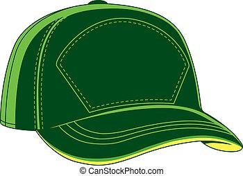 gorra de béisbol, verde