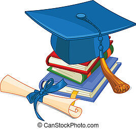 gorra, diploma, graduación