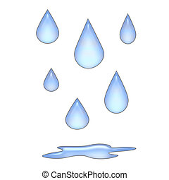 gotas de lluvia, 3d