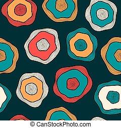 Gotas desordenadas multicolores en el fondo oscuro, vector sin costura para textil, fondo, papel de envolver