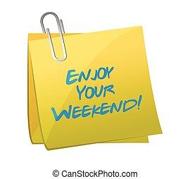 gozar, ilustración, post., diseño, fin de semana, su