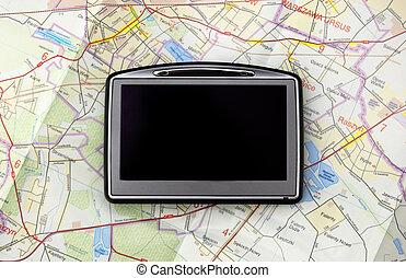 GPS en el mapa