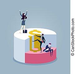 gráfico, -, concepto, pastel, vector, empresa / negocio