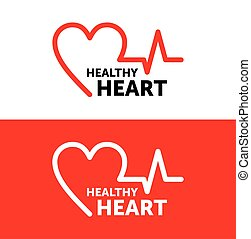 gráfico, corazón, vector, símbolo, sano, heart., logotipo, design., illustration., icon.