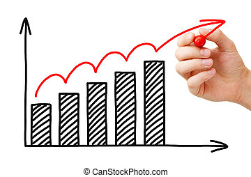 gráfico, crecimiento, empresa / negocio