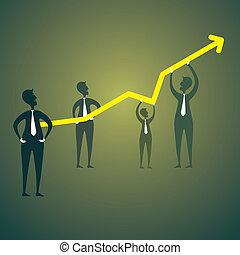 Gráfico de crecimiento de negocios
