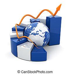 Gráfico de negocios global.