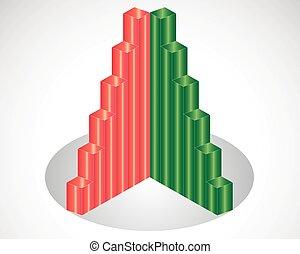 Gráfico de negocios y gráfico