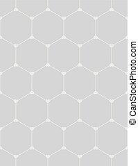 Gráfico de panal de miel con corazones sin costura sobre negro.