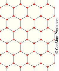 Gráfico de panceta de panal con corazones sin costura sobre blanco.