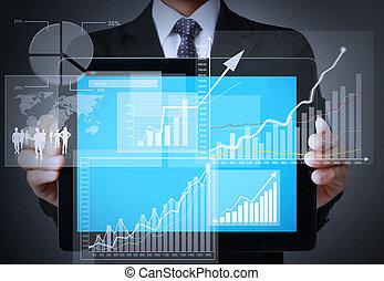 Gráfico de pantalla en una tableta