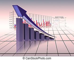 gráfico, economía