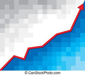 gráfico, empresa / negocio, flecha