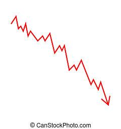 gráfico, lineal, estadístico
