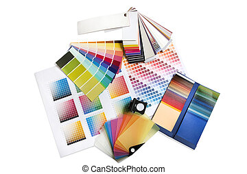 gráfico, muestras, color, diseñador, interior, o