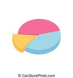 gráfico, pastel, empresa / negocio