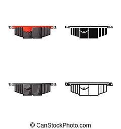 gráfico, símbolo., toolbag, aislado, correa de la herramienta, stock., vector, icono, objeto