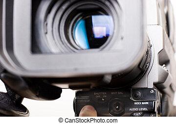 grabación, comienzo, vídeo
