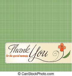 Gracias tarjeta de felicitación con flor