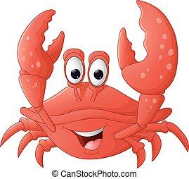 Gracioso dibujo de cangrejo