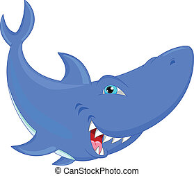 Gracioso dibujo de tiburón