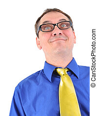 Gracioso hombre de negocios con gafas