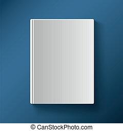 gradiente, cubierta, ilustración, vector, libro blanco, malla