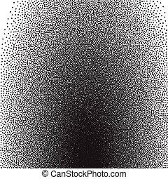 gradiente, stochastic, raster, impresión, halftone