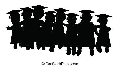 graduación, clase, amigos