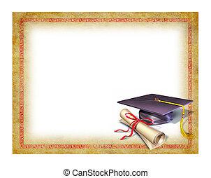 Graduación en blanco