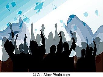 Graduación en silueta