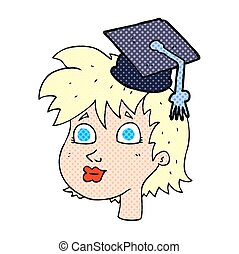 Graduada de dibujos animados