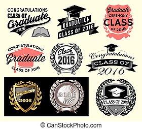 graduado, clase, sector, congrats, conjunto, graduación, grad, felicitaciones, 2016