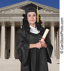 Graduado en blanco