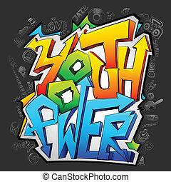 Graffiti con poder juvenil