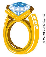 Gran anillo de diamantes