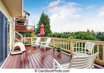 Gran balcón con vista.