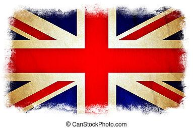 Gran bandera británica grunge