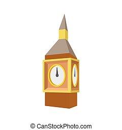 Gran Ben en Westminster, icono de Londres, estilo de dibujos animados