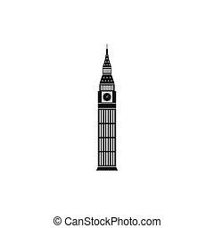 Gran Ben en Westminster, icono de Londres, estilo simple