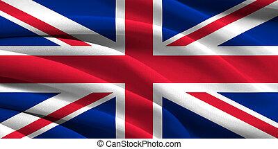 gran bretaña, bandera, grande