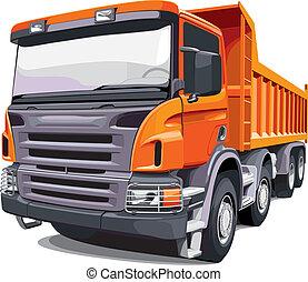 Gran camión naranja