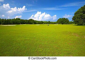 Gran campo de golf