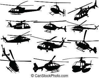 Gran colección de helicópteros