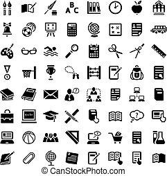 Gran colección de iconos escolares