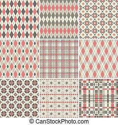 Gran colección de patrones sin sentido