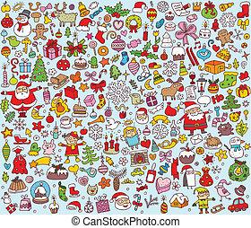 Gran colección navideña de finas ilustraciones