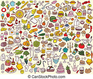 Gran comida y colecta de cocina