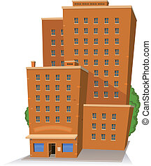 Gran edificio Cartoon