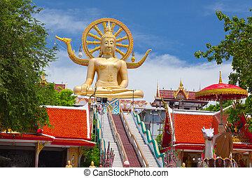 Gran estatua de Buddha en koh samui, thailand